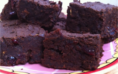 Sticky black bean brownie